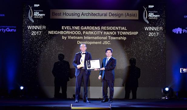 ParkCity Hanoi tiếp tục được vinh danh tại Giải Thưởng Bất Động Sản Châu Á 2017