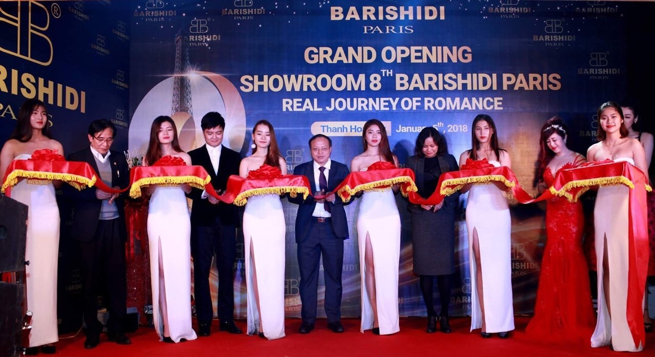 Barishidi Paris tưng bừng khai trương showroom thứ 8 của hệ thống tại thành phố Thanh Hóa