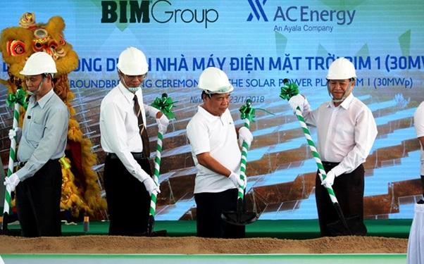 Khởi công nhà máy điện mặt trời dự án BIM 1