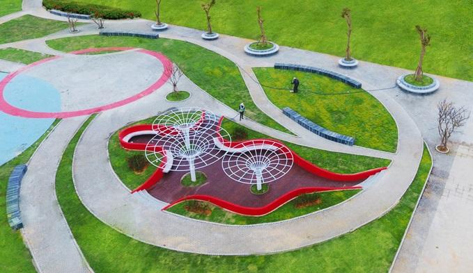 Ấn tượng hệ thống công viên theo tiêu chuẩn quốc tế của Đất Xanh Miền Trung