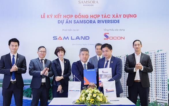 Tập đoàn Socon được chỉ định làm tổng thầu xây dựng dự án căn hộ Samsora Riverside