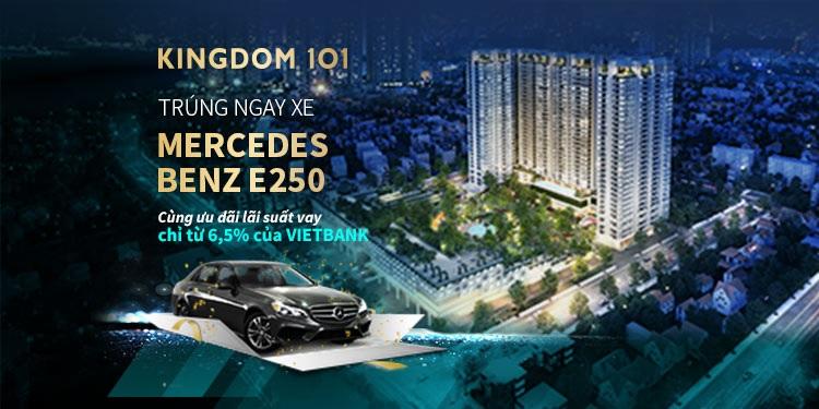 Mercedes Benz E250 sẽ là cơ hội tiếp theo khi mua căn hộ Kingdom 101