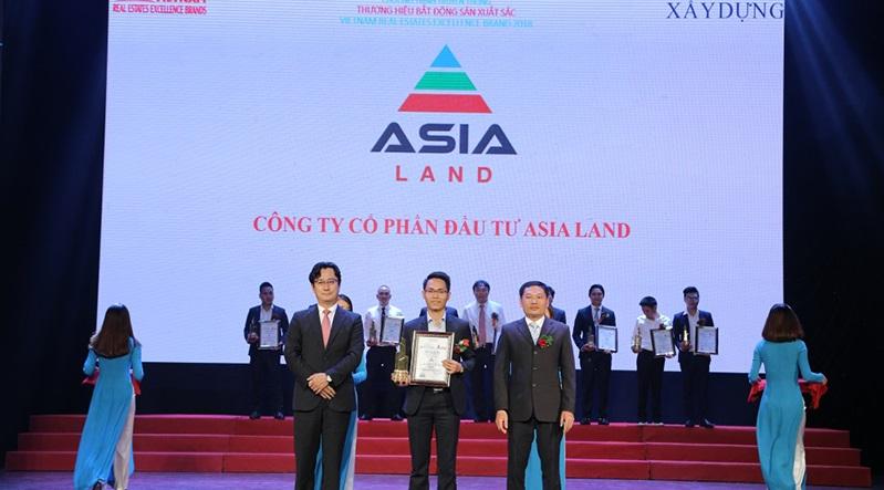 """Công ty CPĐT Asia Land vinh danh """"thương hiệu BĐS xuất sắc 2018"""""""