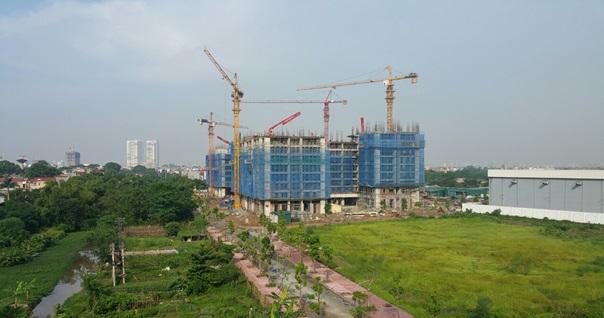 Tiến độ xây dựng chung cư thu hút thị trường Long Biên hiện nay