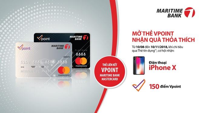 'Tích điểm muôn nơi, chi tiêu cực hời' với thẻ liên kết Vpoint - Maritime Bank