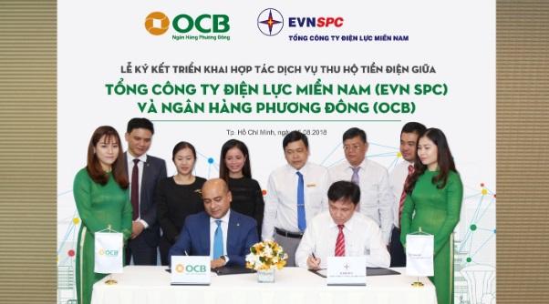OCB chính thức thu hộ tiền điện tại 21 tỉnh thành