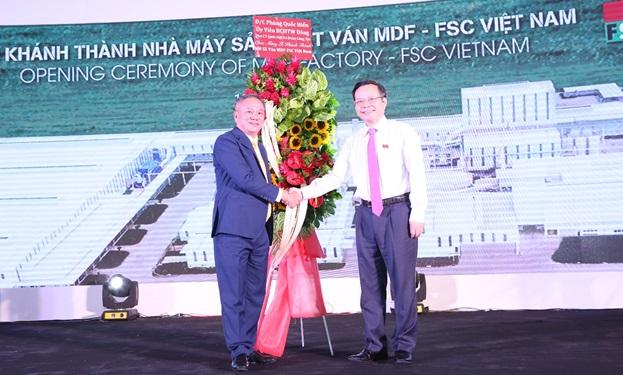 Khánh thành nhà máy sản xuất ván MDF hiện đại bậc nhất thế giới