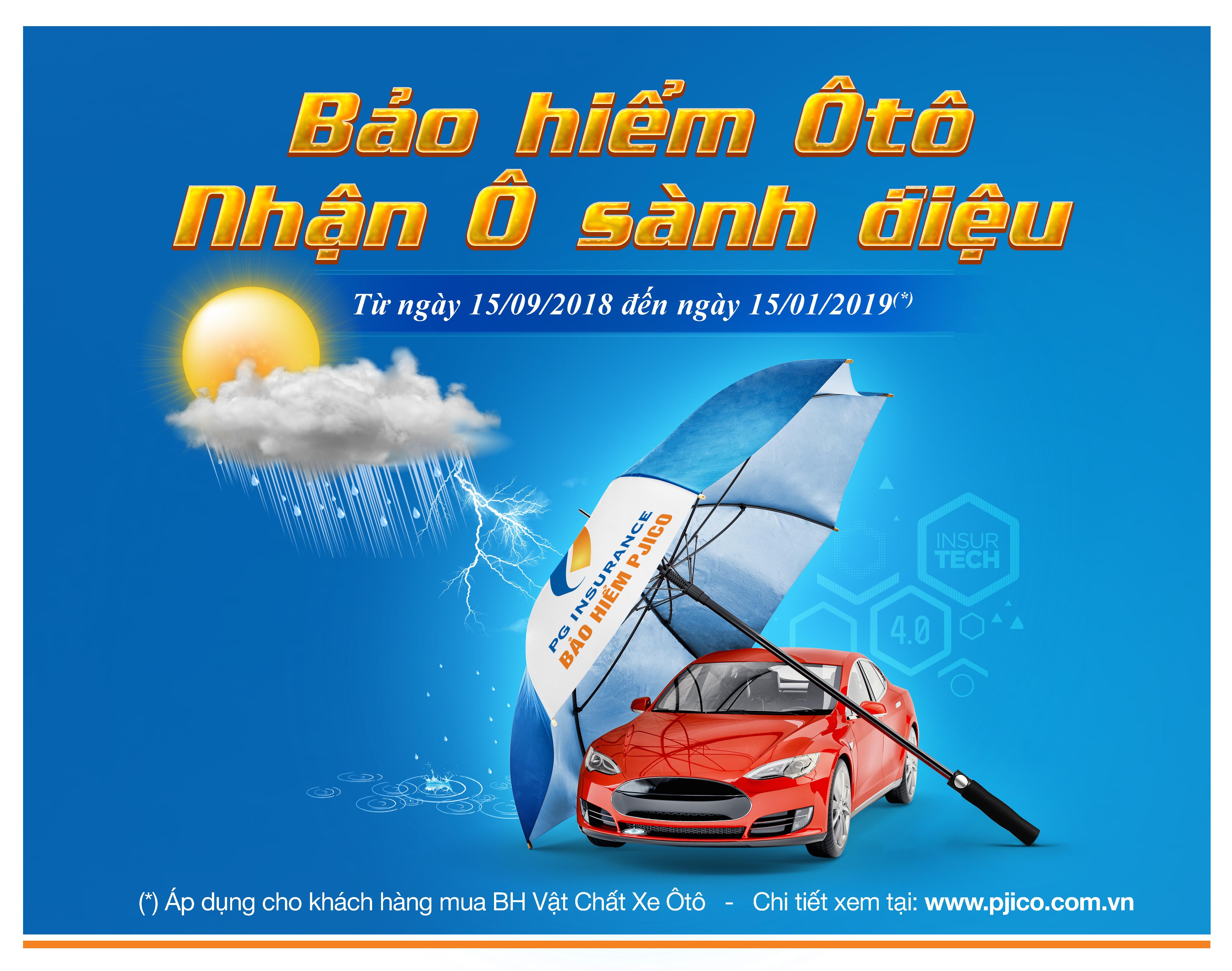 """PJICO ra mắt chương trình """"Bảo hiểm ô tô - Nhận ô sành điệu"""""""