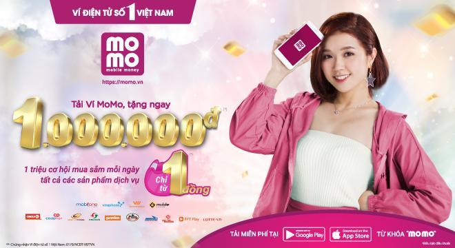 1 triệu cơ hội mua sắm mỗi ngày giá chỉ từ 1 đồng bằng Ví MoMo