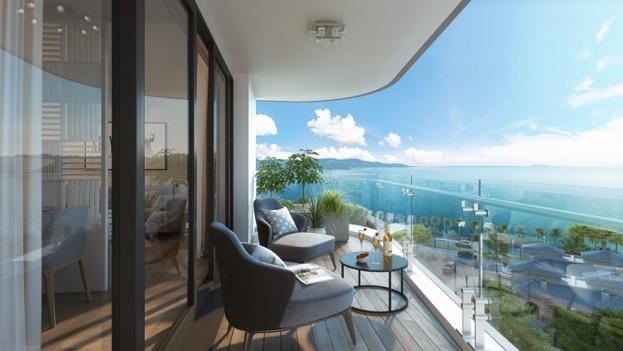 Trải nghiệm nghỉ dưỡng hiện đại với tầm view đẹp, không gian tiện nghi