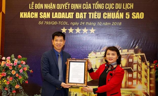 Thương hiệu Ladalat Hotel chính thức được công nhận là khách sạn 5 sao