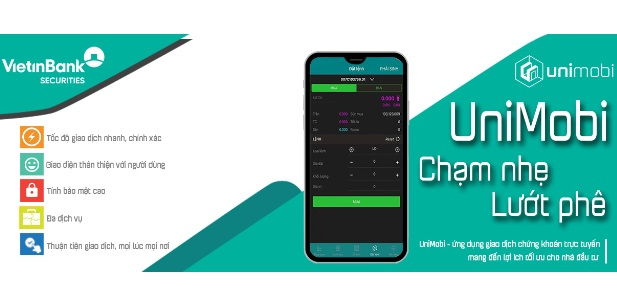 Vietinbank Securities ra mắt ứng dụng giao dịch chứng khoán trên thiết bị di động UniMobi