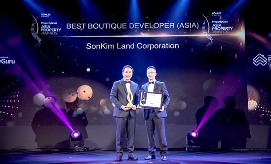 """SonKim Land nhận giải """"Best Boutique Developer"""" tại lễ trao Giải thưởng Bất động sản Châu Á 2018"""