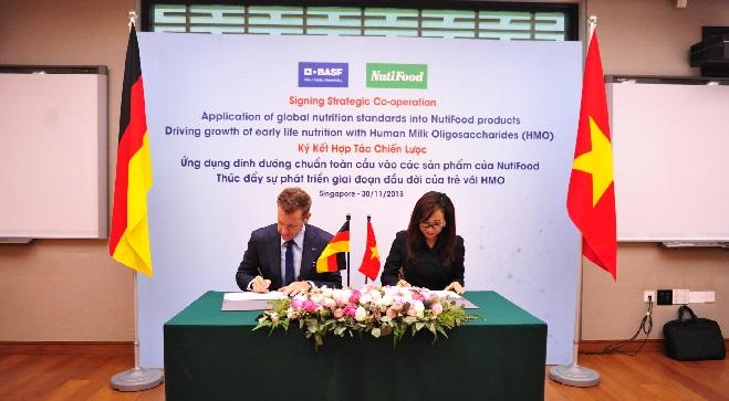 NutiFood ký kết hợp tác dinh dưỡng với tập đoàn BASF