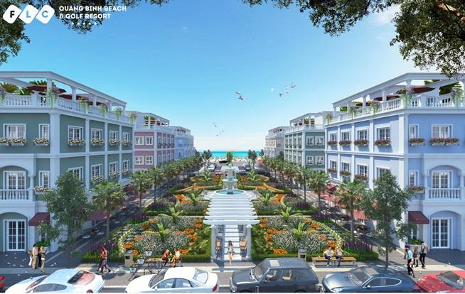 FLC Lux City - The Ocean Village, tiểu khu sầm uất của FLC Quảng Bình