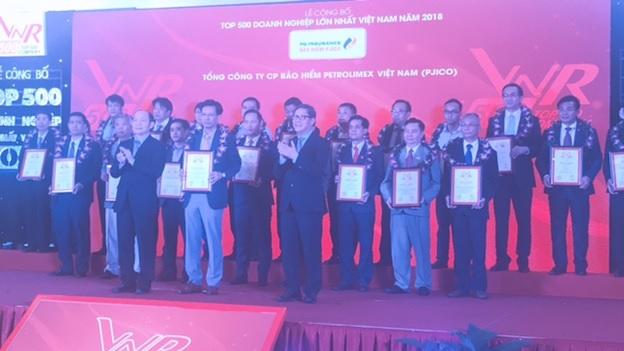 PJICO thuộc Top 500 DN lớn nhất Việt Nam, hoàn thành vượt mức các chỉ tiêu kinh doanh năm 2018