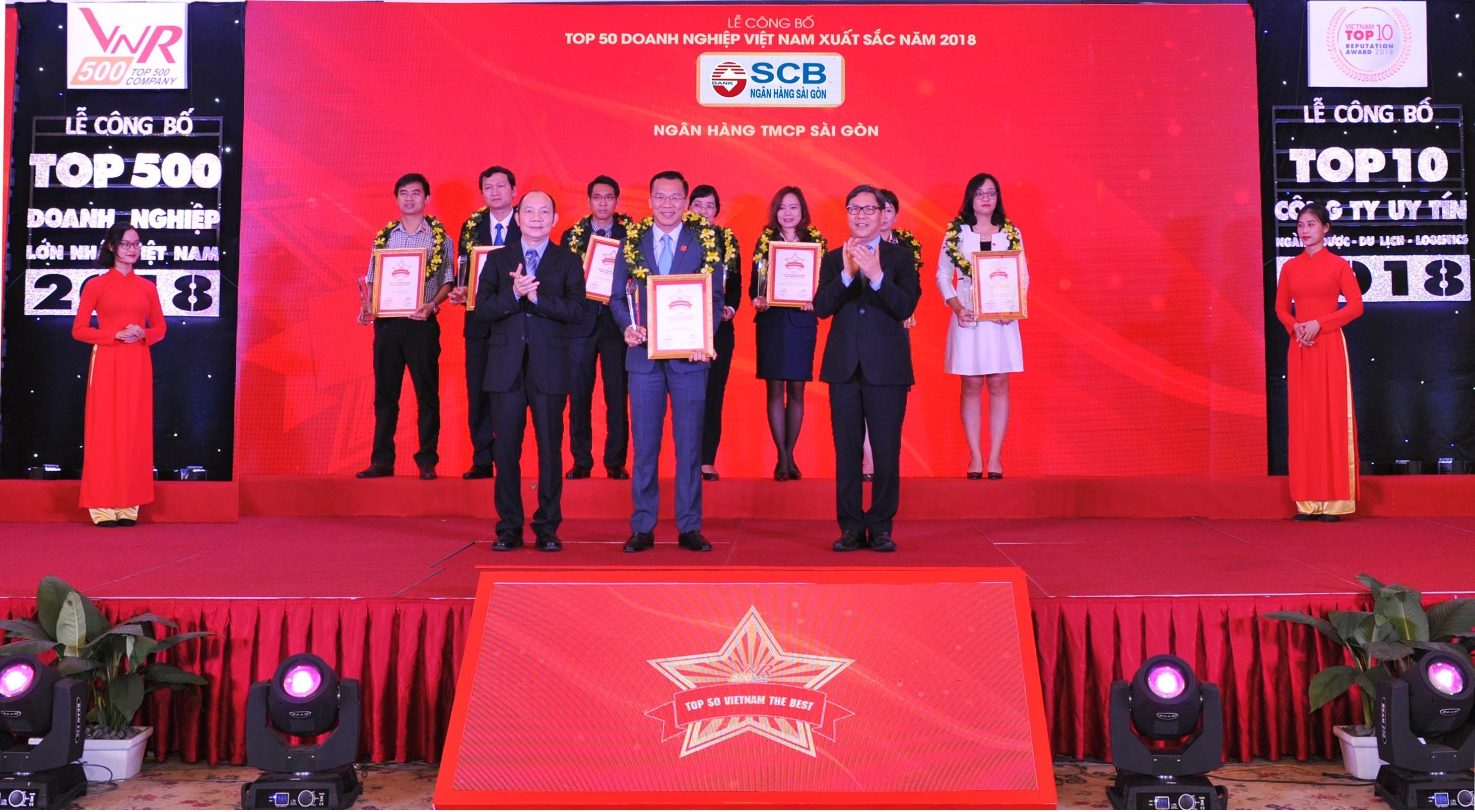 SCB nằm trong Top 50 doanh nghiệp xuất sắc nhất Việt Nam 2018