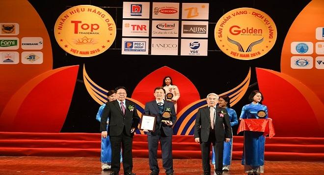 Thép Việt Đức đạt giải thưởng Top 20 Nhãn hiệu hàng đầu Việt Nam và Top 10 Sản phẩm vàng, Dịch vụ vàng Việt Nam năm 2018