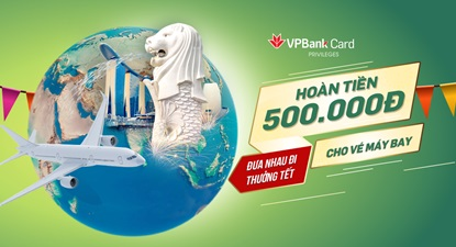 Mùa tết này nhận siêu ưu đãi từ thẻ tín dụng Vpbank