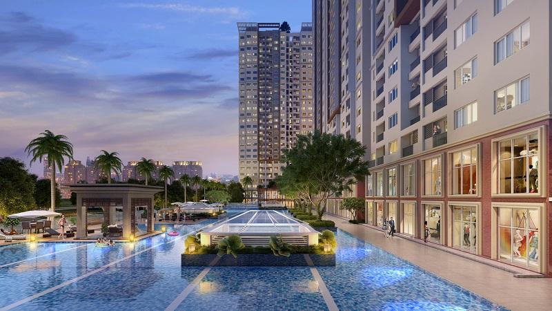 bơi chân mây tiêu chuẩn resort Singapore rộng hơn 0,2 hecta