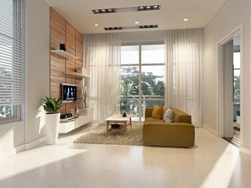 Căn hộ The Park Residence được thiết kế tinh tế với hệ thống cửa sổ và ban công
