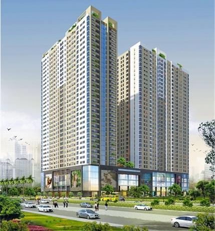 Phối cảnh dự án Gemek Tower với 2 tòa cao 34 tầng
