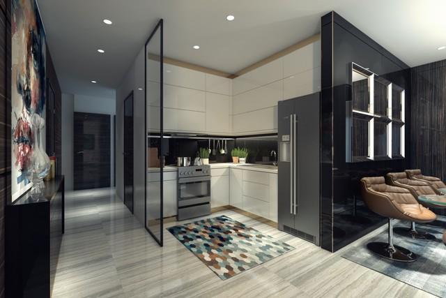 Thiết kế bếp và điều hòa hoàn thiện - sang trọng và tinh tế trong căn hộ Park Premier.