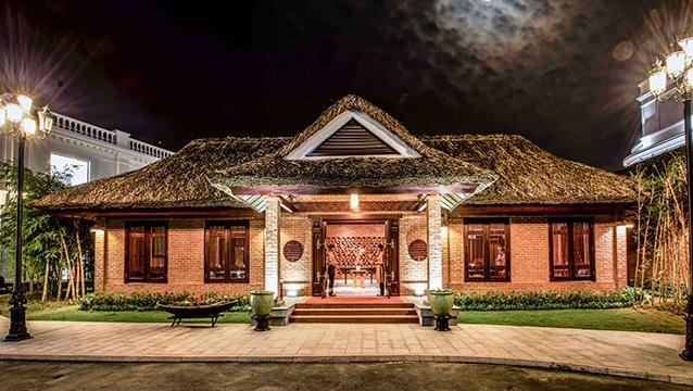 Không gian nhà Hàng Hương Vị Xưa – nơi diễn ra Tuần lễ Ẩm thực Việt.