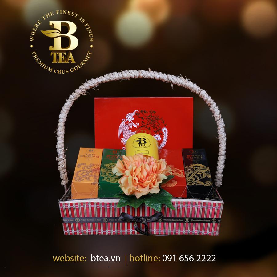 Giỏ trà quà tặng với nhiều loại Trà Btea thượng hạng!