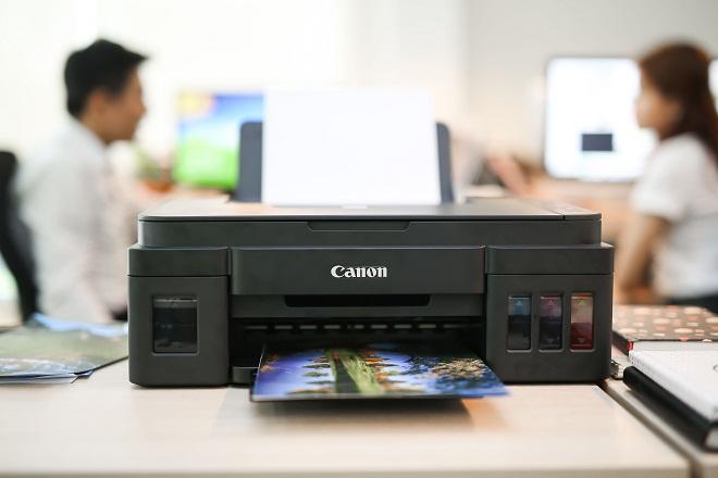 Ngày làm việc đầy hứng khởi cùng Canon Pixma G3000