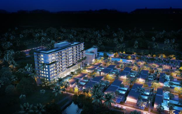 Khu căn hộ Naman Apartment sở hữu hướng nhìn tuyệt đẹp ra bãi biển cùng mảng xanh tuyệt mỹ của hai sân golf đẳng cấp hàng đầu Đông Nam Á