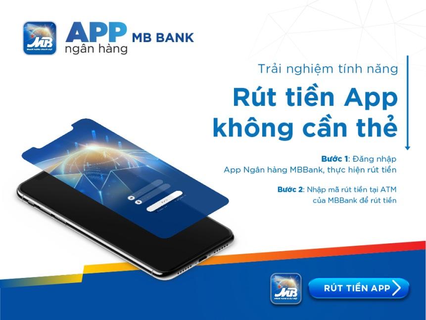 Rút tiền không cần thẻ với App ngân hàng MBBank