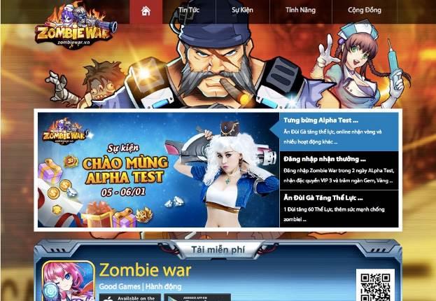 Zombie War b.#xF9;ng ph.#xE1;t Alpha Test, t.#x1EB7;ng giftcode cho c.#x1ED9;ng đ.#x1ED3;ng game th.#x1EE7;