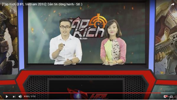 Giải đấu Tập Kích HPL: Mời hẳn MC VTV làm người dẫn bản tin