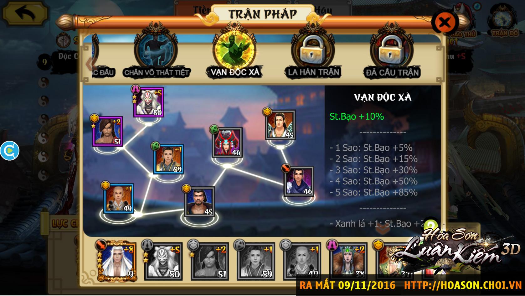 Hoa Sơn Luận Kiếm 3D, game mobile Việt cực đỉnh, chính thức cho tải về từ hôm nay