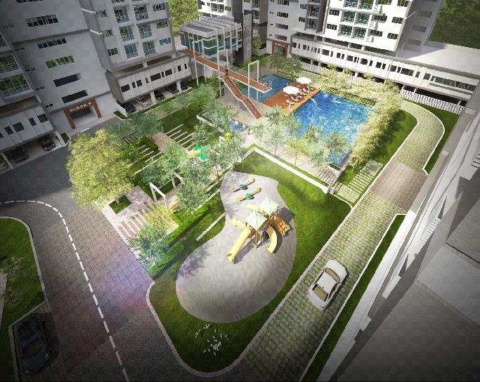 Hình ảnh phối cảnh khu tiện ích nội khu Sky Residences, EcoXuân