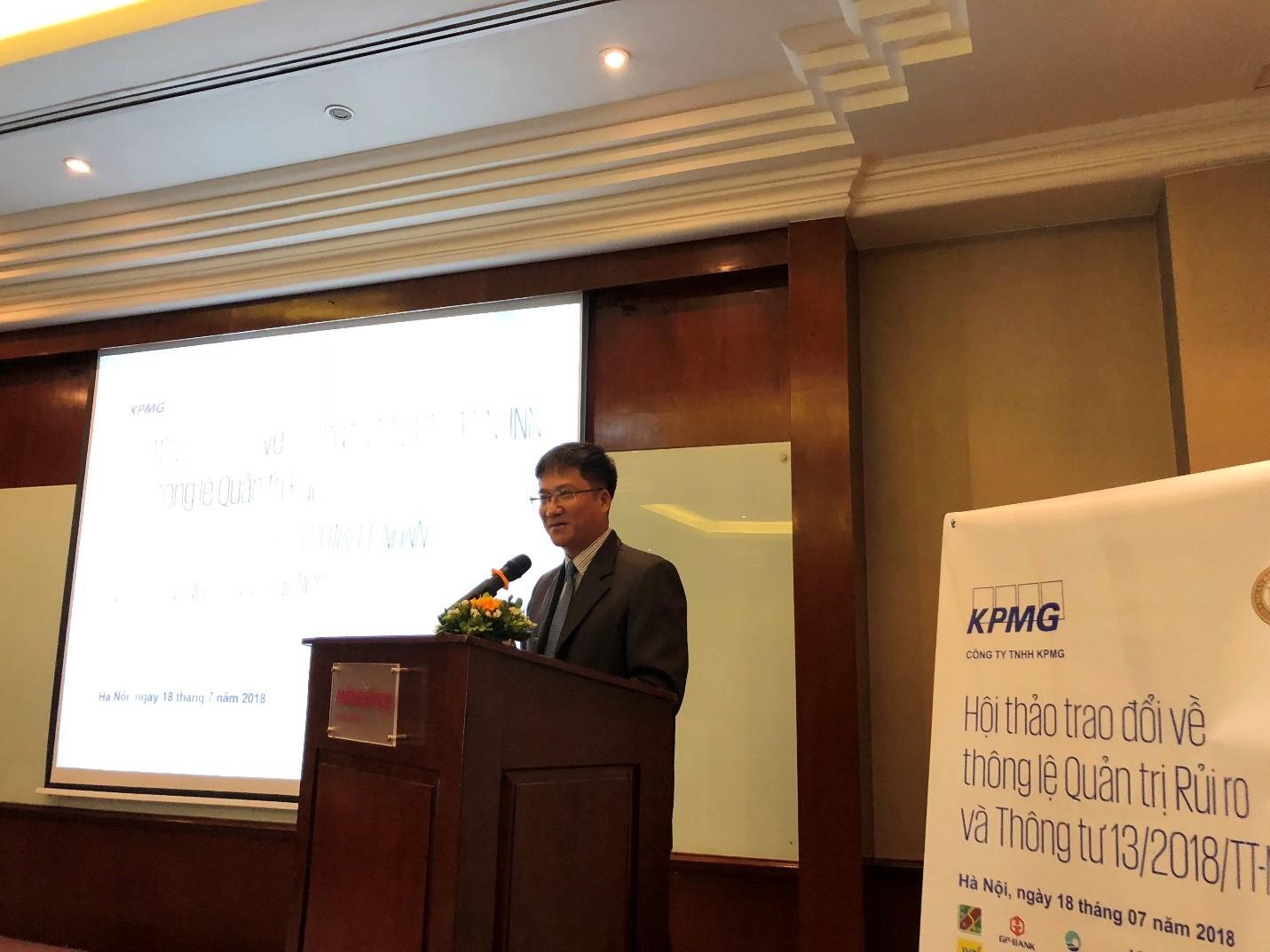 KPMG tổ chức hội thảo về Thông tư 13/2018/TT-NHNN và Quản lý rủi ro với NHNN và các Tổ chức Tín dụng