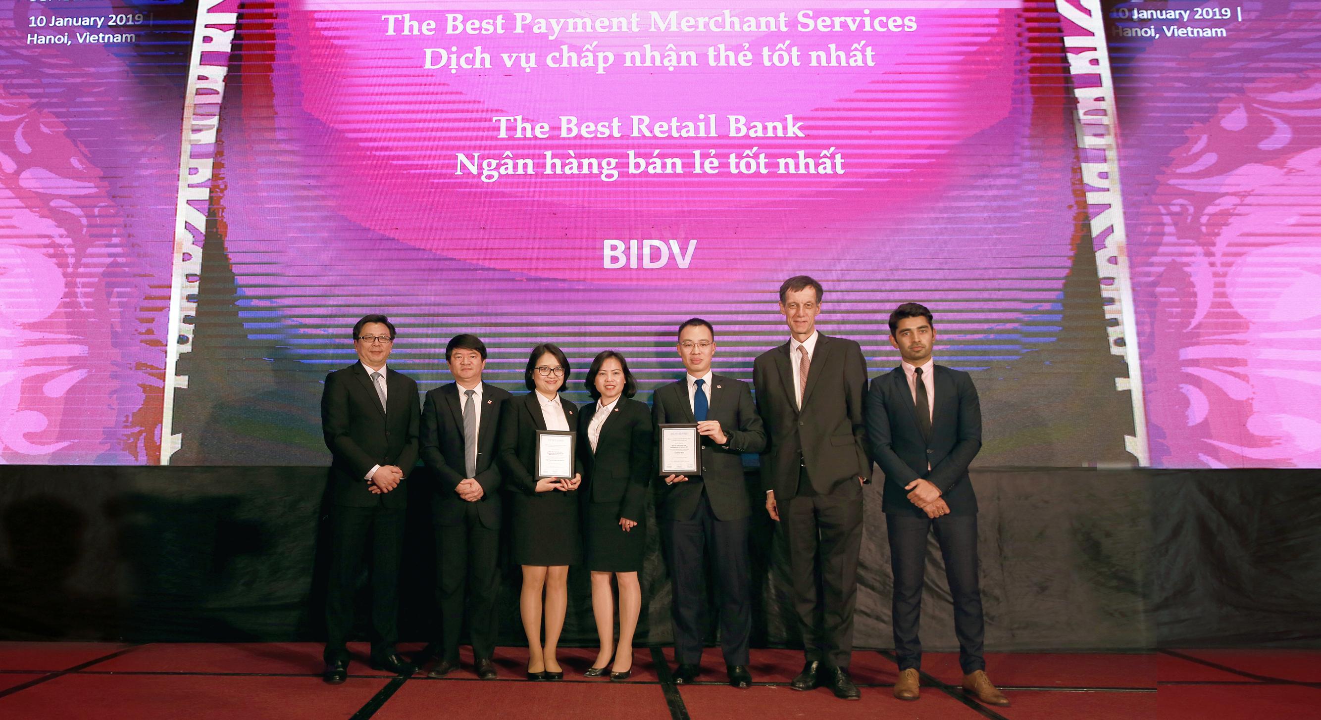 BIDV tiếp tục được vinh danh tại Lễ trao giải uy tín