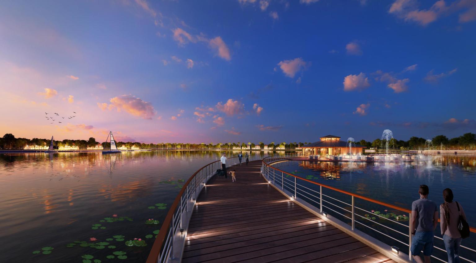 Giá bán hợp lý, chính sách bán hàng hấp dẫn biệt thự ven hồ Vinhomes Riverside – The Harmony