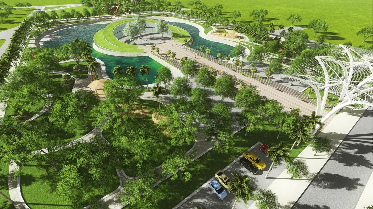 Nhà liền kề quận Hà Đông có cảnh quan hồ sinh thái