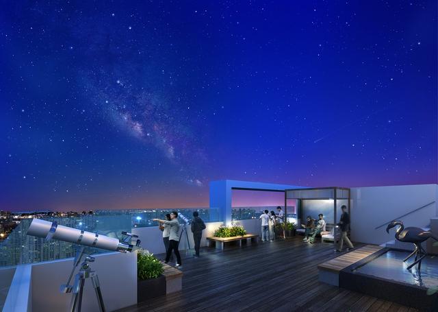Phối cảnh đài thiên văn dự án Seasons Avenue, Mỗ Lao, Hà Đông