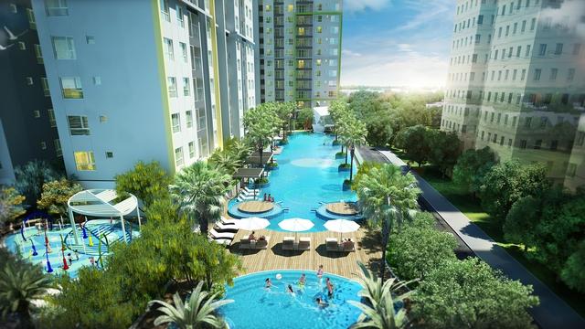 Phối cảnh khu tiện ích trên cao dự án Seasons Avenue, Mỗ Lao, Hà Đông
