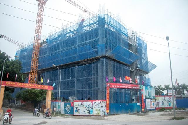 Hình ảnh công trường thực tế Hateco Hoàng Mai