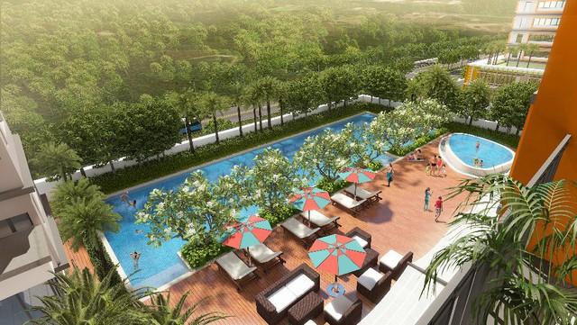 Hồ bơi resort trên không tại Dragon Hill Residence and Suites 2