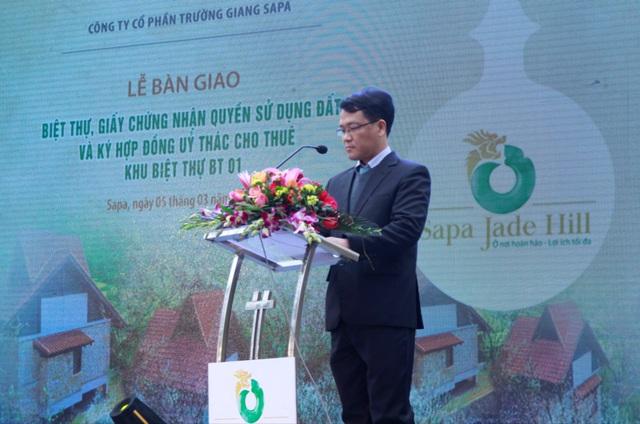 Ông Ngô Tấn Long, Giám đốc Công ty cổ phần Trường Giang Sapa - đại diện chủ đầu tư phát biểu tại sự kiện