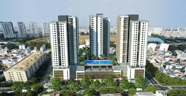 Xi Grand Court được xây dựng trên diện tích 17.940 m2, diện tích căn hộ đa dạng từ 70 đến 109m2.
