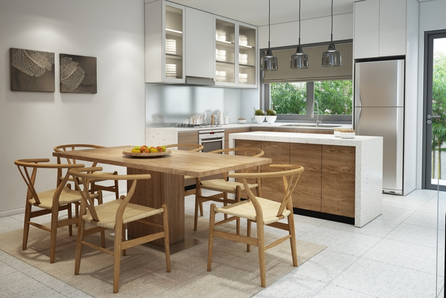 Góc sinh hoạt chung thường ngày – nơi mang đậm không khí ấm cúng: phòng khách, nhà bếp
