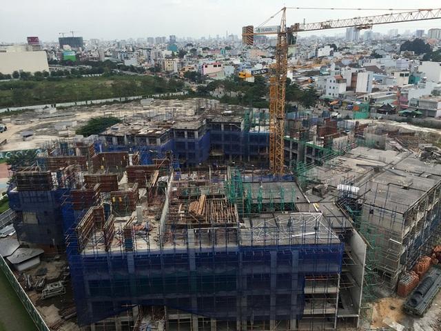 Block C khu Ruby đã xây dựng đến tầng 10 và dự kiến cất móc vào khoảng cuối tháng 4 - đầu tháng 5/2016
