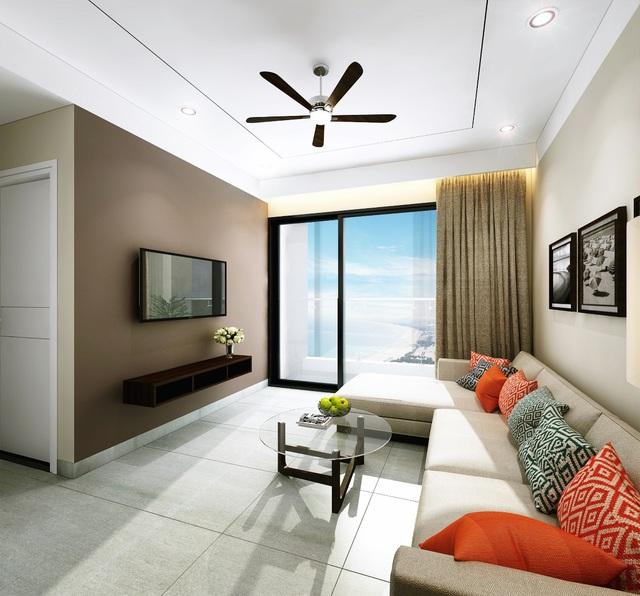Phòng khách mang phong cách hiện đại trẻ trung và năng động