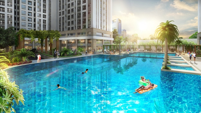 Hồ bơi tràn hiện đại – điểm nhấn trong chuỗi tiện ích RichStar